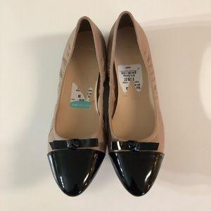 New Cole Haan Rosalie Cap Toe Flat Size 8